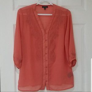 3 for $20 Le Chateau Coral coloured blouse